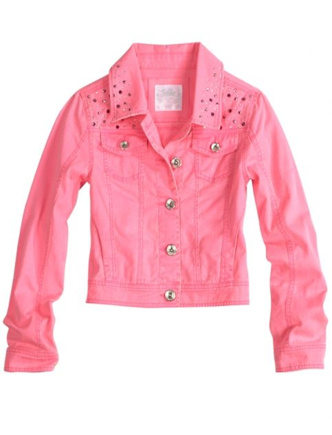 3e103cb23 Pink Sparkly Jean Jacket From Justice Just for girls.