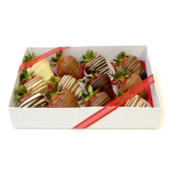 #bowmanvilleflowers #valentinesday #giftideas #love #chocolatecoveredstrawberries  Swirl Berries - 12 Box | Bowmanville, Courtice, Newcastle, Oshawa, Whitby Flower Delivery