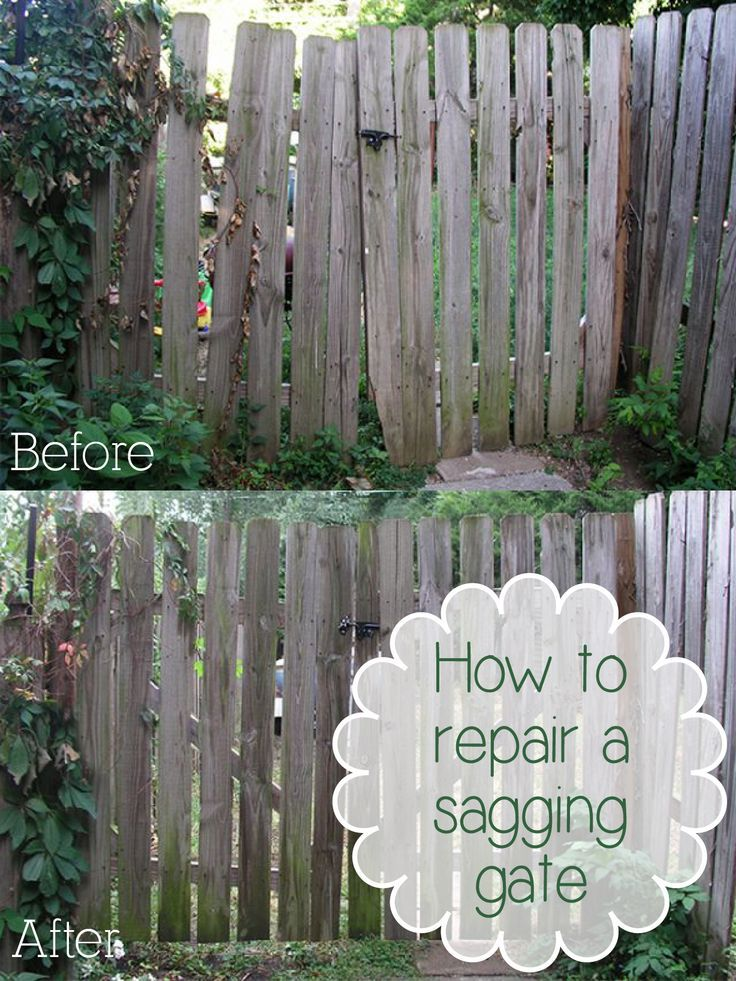 How To Repair A Sagging Gate Diy Home Repair Home
