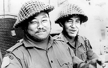 Gaje Ghale VC (on left)