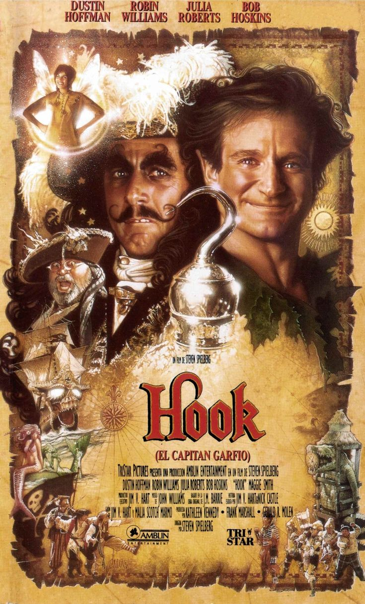 Hook inspired by J.M. Barrie's play and novel Peter Pan.