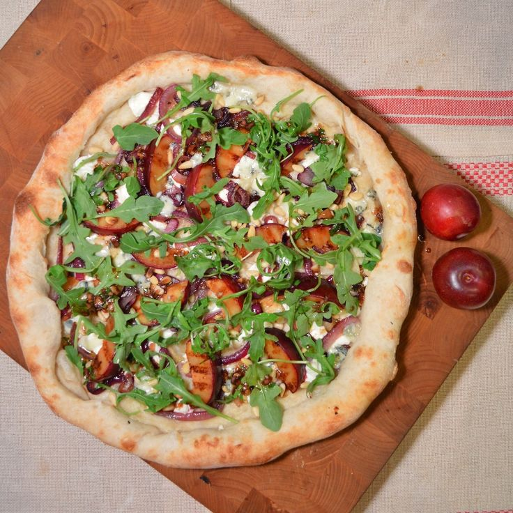 grilled crumbled gorgonzola cheese crumbled plums sauteed sauteed ...