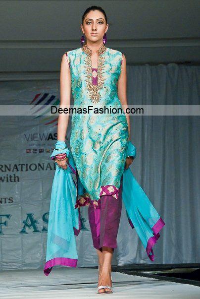 Latest Pakistani Designer Dress – Ferozi Magenta Formal Wear | Latest Pakistani Fashion 2013 Bridal Dresses Formal Wear