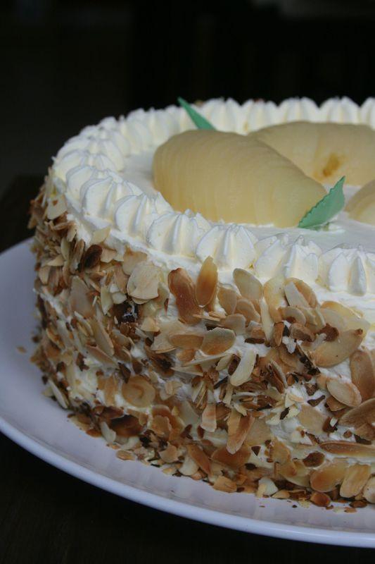 Le Poirier, gâteau à la poire et à la crème - Passion culinaire by Minouchka
