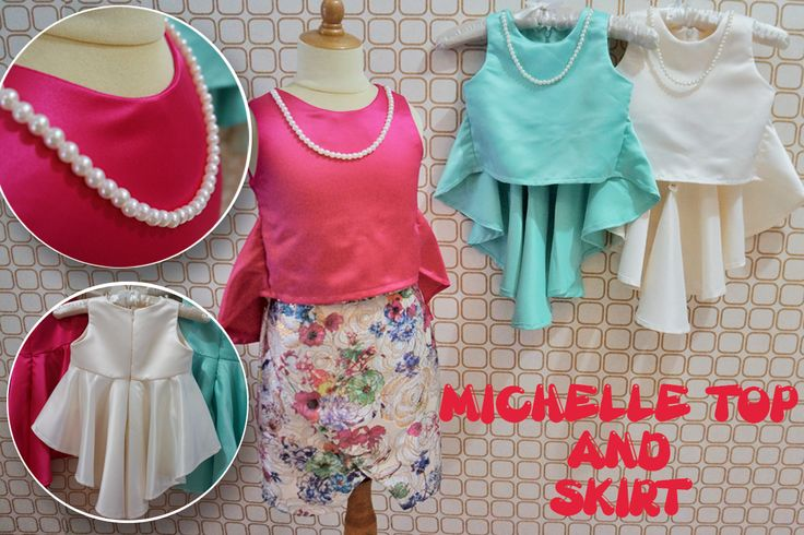 MM227 Michelle Tops and MM228 Michelle Skirt for kids 1-12y and Moms. Order by BB 28307189, WA/Line 081-330686508 Mumu Stuff. Merk Campaign Clothing. High Quality. Happy Shopping JBU