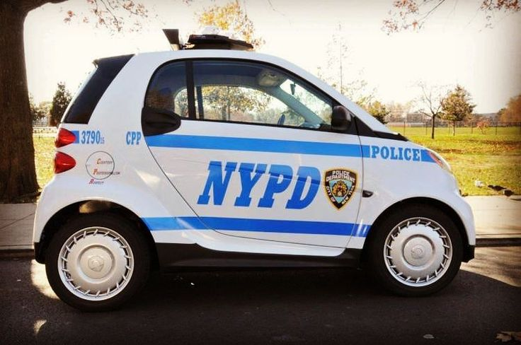 Watch out!! #police has #smart #cars #nypd #fortwo