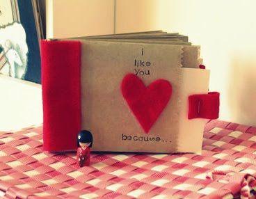 Valentine paper bag albums (She: Melissa) - Or so she says...