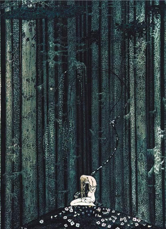 'At Rest in the Dark Wood' - Kay Nielsen's - Scandinavian Fairy Tale Illustrations, 1914