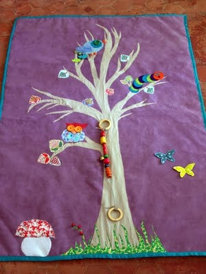 The exquisite adventures of: tapis deveil - home made play rug