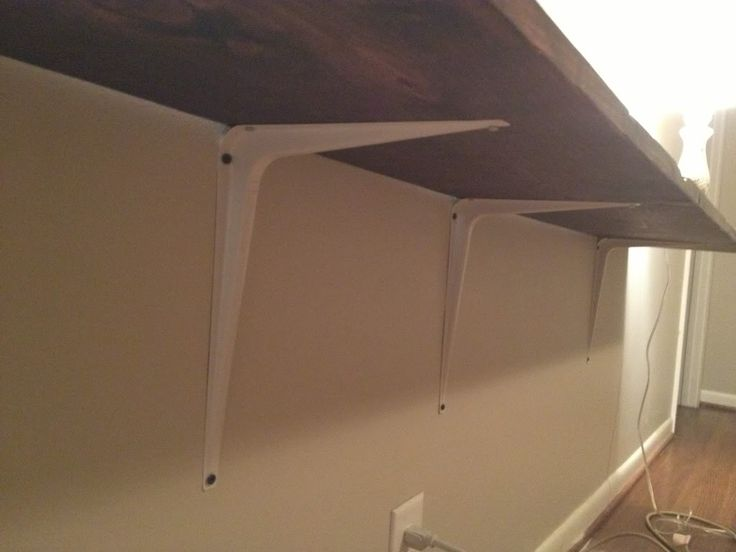 All Precious & Pleasant Blog - $22 Floating Console Table using a board & L-brackets