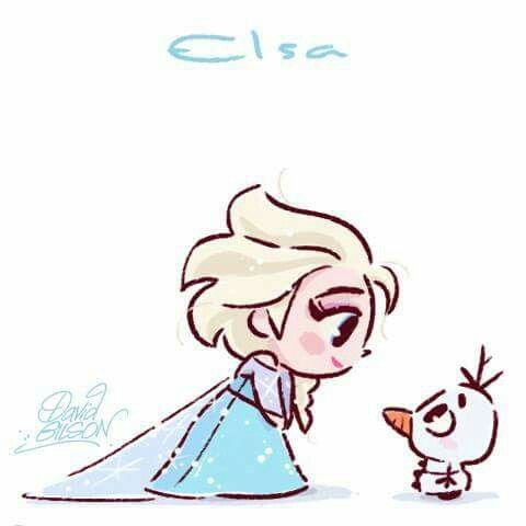 Chibi Elsa by David Gilson https://www.facebook.com/artofdavidgilson/ Frozen ❄⛄❄✨❄