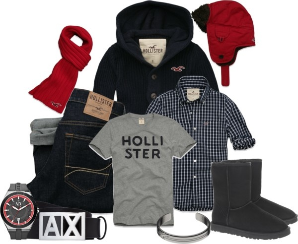 """Men's Hollister 2"" by laaudra-rasco ❤ liked on Polyvore"