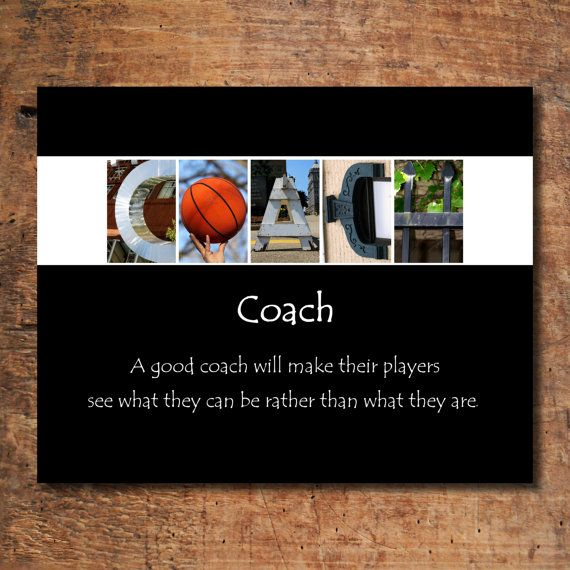 Motivational Quotes For Sports Teams: Basketball Coach Print, Coach Print, Coach Sign, Coach