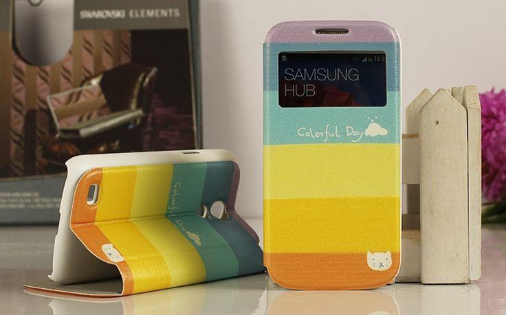 Θήκη Rainbow Preview Window Flip Case OEM (Samsung Galaxy S4 mini) - myThiki.gr - Θήκες Κινητών-Αξεσουάρ για Smartphones και Tablets - Ουράνιο τόξο