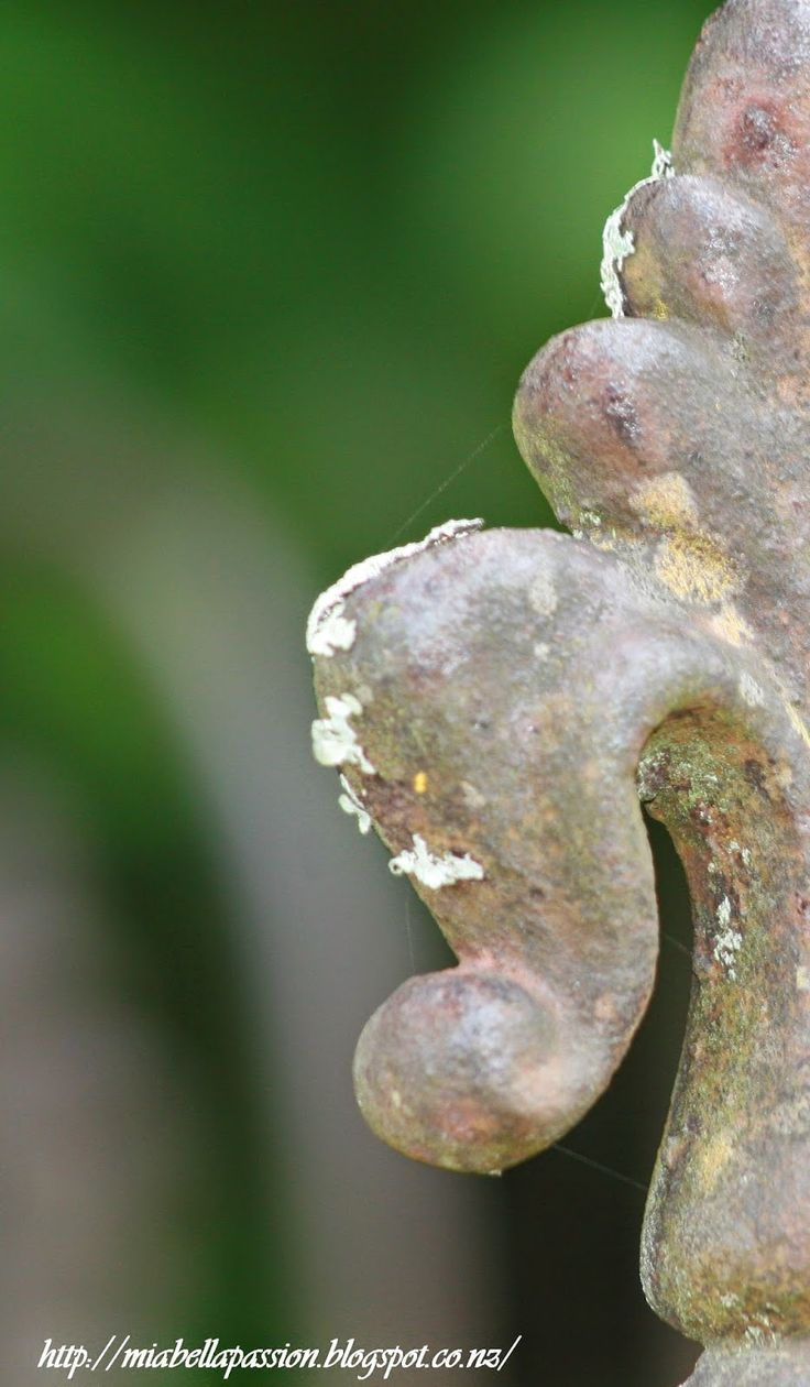 Churchyard finial. http://miabellapassion.blogspot.co.nz/2015/03/in-love-with-shabby-wrought-iron-and.html