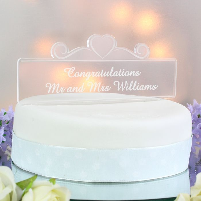 Give Your Cake A Professional Finish With This Personalised Topper Crafted In Clear Acrylic Own Special Occasion Wording