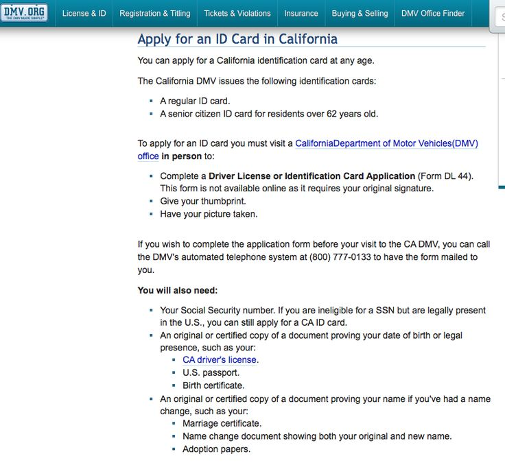 How To Apply For A Ca Id Card While Studying In California  Http
