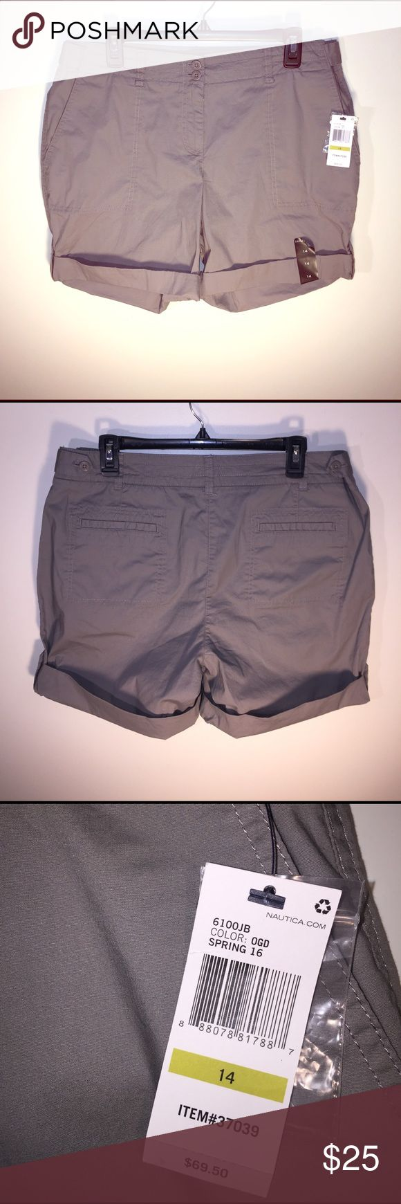 NEW Nautica Sz 14 Women's Grey Shorts NEW Nautica Sz 14 Women's Grey Shorts Lightweight Feel Nautica Shorts
