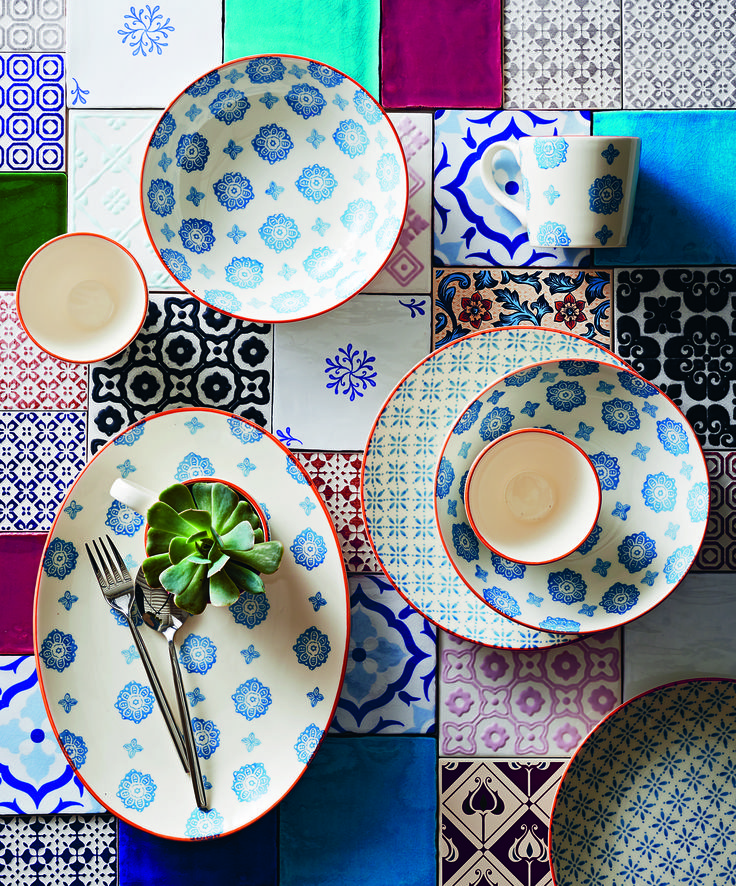 Taking inspiration from richly decorated Middle Eastern and oriental ceramics, our Pad Print tableware is a design lesson in simplicity.