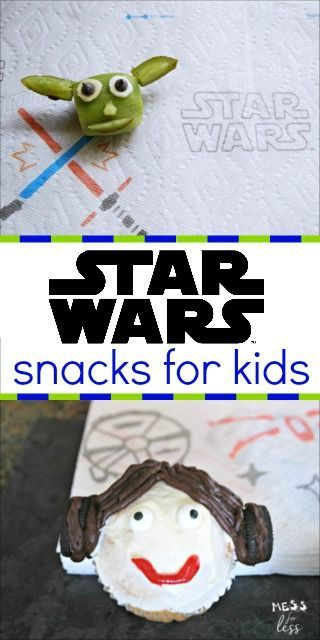 Check out these fun Star Wars snacks for kids.My kids loved the Princess Leia cupcakes and Yoda kiwi snacks. #AD #QuickerPickerUpper #StarWars #TheLastJedi @Bounty