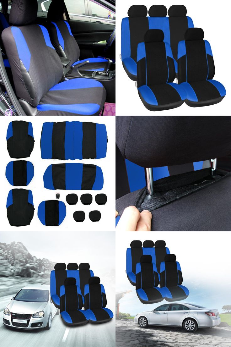 [Visit to Buy] 11PCS /Lot Car Seat Covers Universal Vehicle Car Interior Cover Set Mesh Sponge  Seat-Covers Durable Headrest Cover Accessories #Advertisement