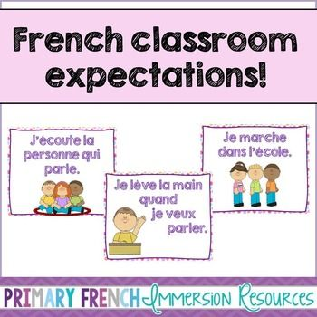 French classroom expectation posters