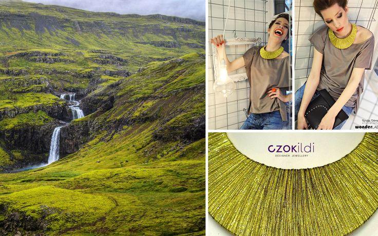 Nature inspired yarn wrapepd jewellery by Czolori http://czokildihu.bigcartel.com/