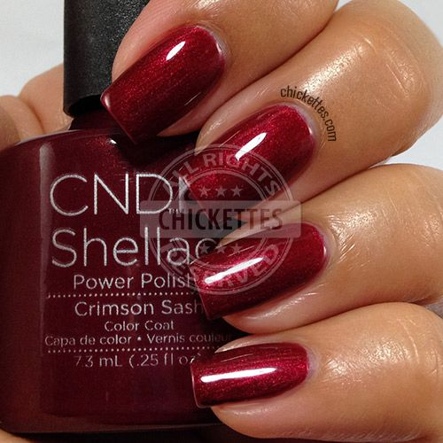 CND Shellac Modern Folklore Collection - Crimson Sash - swatch by Chickettes.com