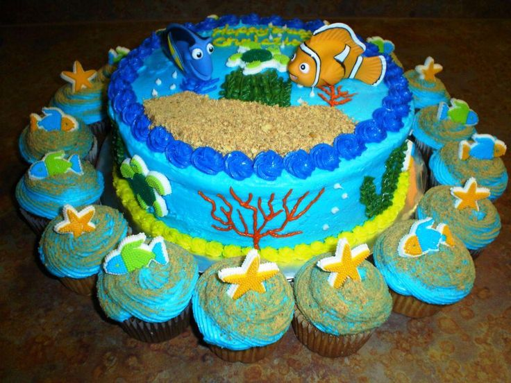Image of: Coolest Finding Nemo Birthday Cakes