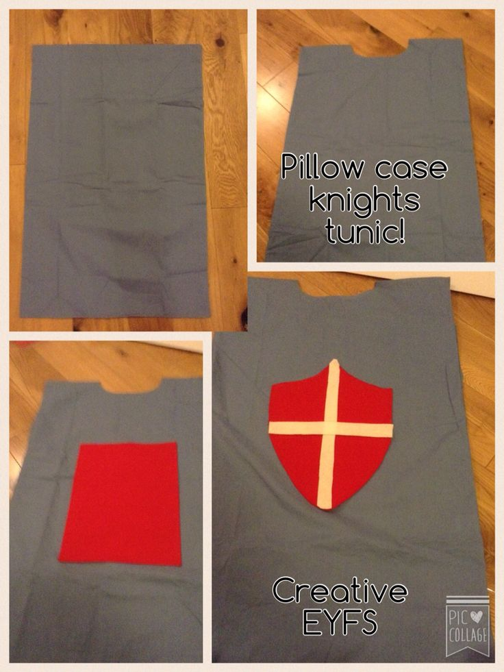 Knights tunic! Made from a pillow case.
