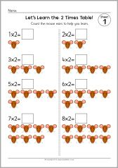 2 times table worksheets (SB9379) - SparkleBox