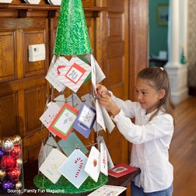 Columbus Multiple Moms: Kelly's Art Easel: Homemade Card Trees and Advent Calendars