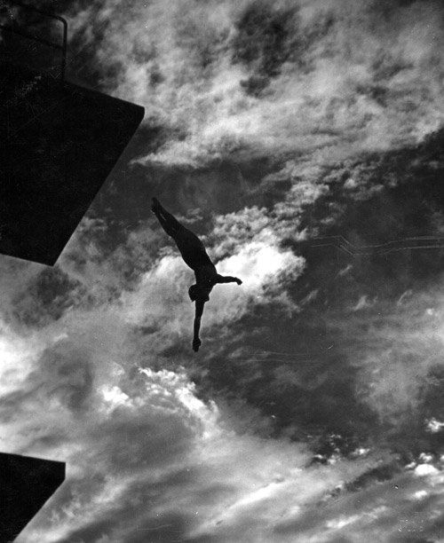 """Leni Riefenstahl, """"Dive from the 10-Metres-Tower,"""" from the film 'Olympia'. 1936"""