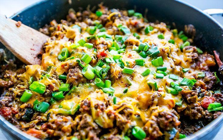 Low Carb Rezepte: Käsige Taco Bratpfane