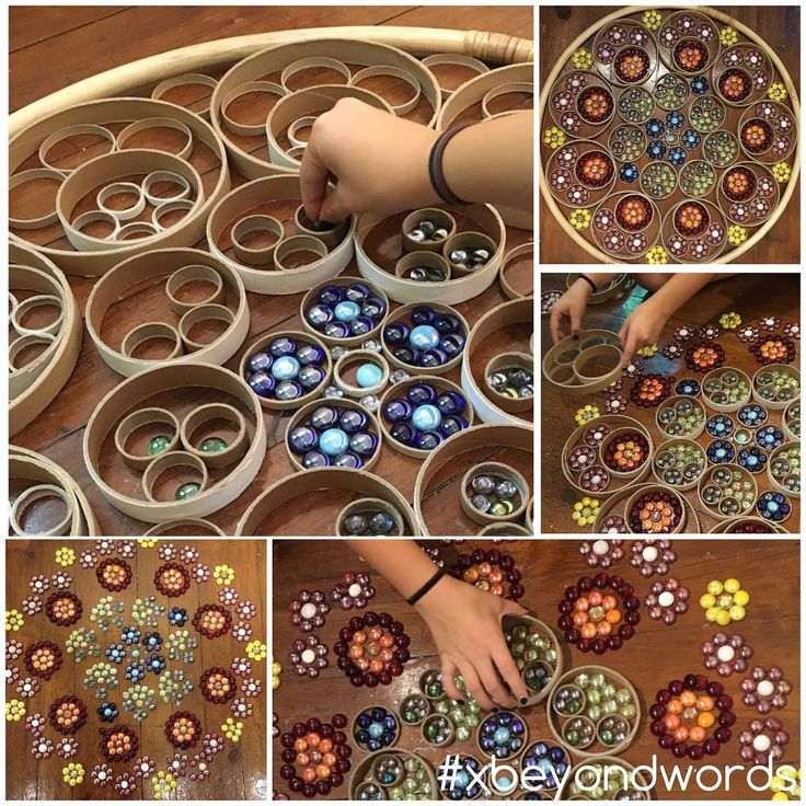 Diwali mandala activity with loose parts?