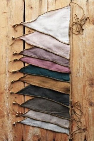 Sweet Up-Cycled Bunting With Bells                                                                                                                                                                                 Más