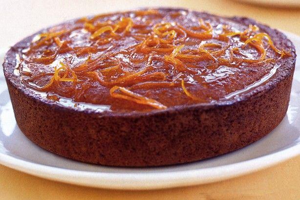 Σιροπιαστό κέικ πορτοκαλιού