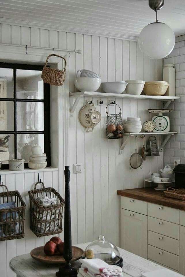 Like the baskets to hold towels, pot holders, etc.