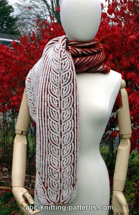 ABC Knitting Patterns - Sheaves of Barley Brioche Stole