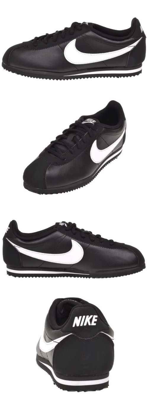 Youth 158954: Nike Cortez Gs Kids Youth Boys Girls Casual Shoes Black White 749482-001 -> BUY IT NOW ONLY: $40 on eBay!