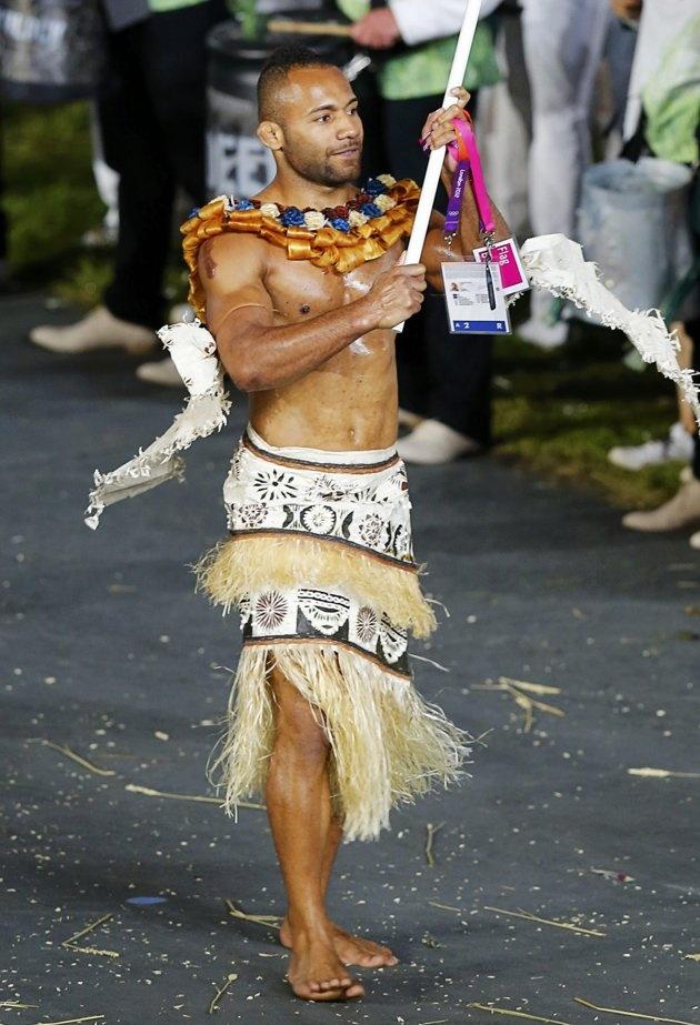 Fiji's flag bearer Nuala Josateki…