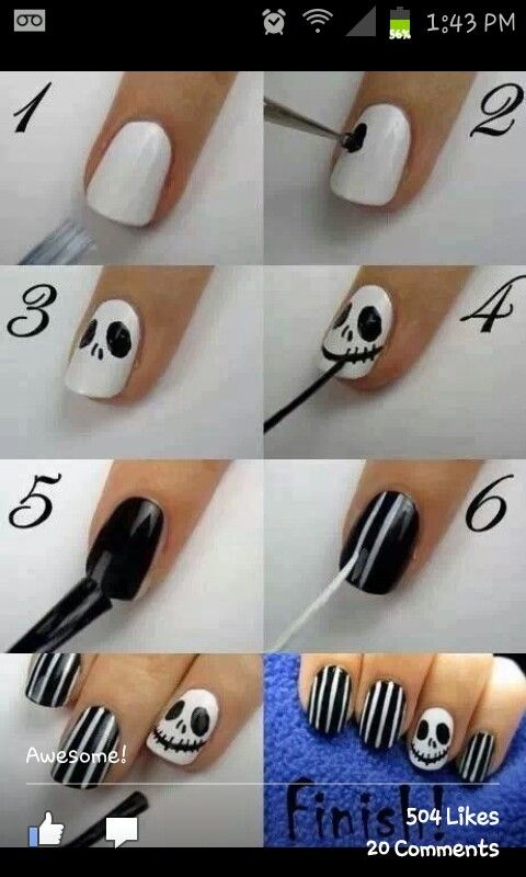 Awesome halloween nail idea