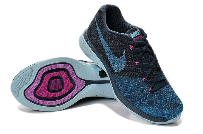 9b09b00765f8c Authentic New Arrival 2018-2019 Women Nike Flyknit Lunar 3 Sport Turquoise  Pink Flash Teal Black