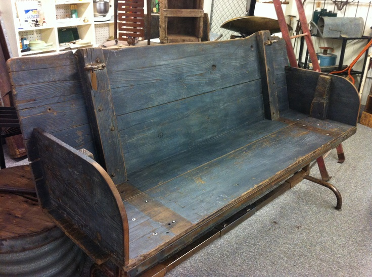Bench up-cycled from truck panels