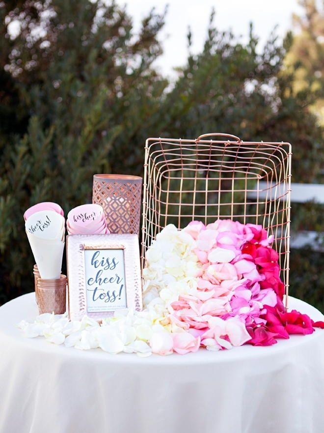 DIY Petal Toss Bar | A great wedding ceremony (or wedding reception) idea!