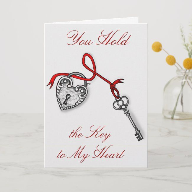 Key To My Heart Holiday Card Zazzle Com In 2021 Happy Valentines Day Card Valentines Day Cards Handmade Cards For Boyfriend