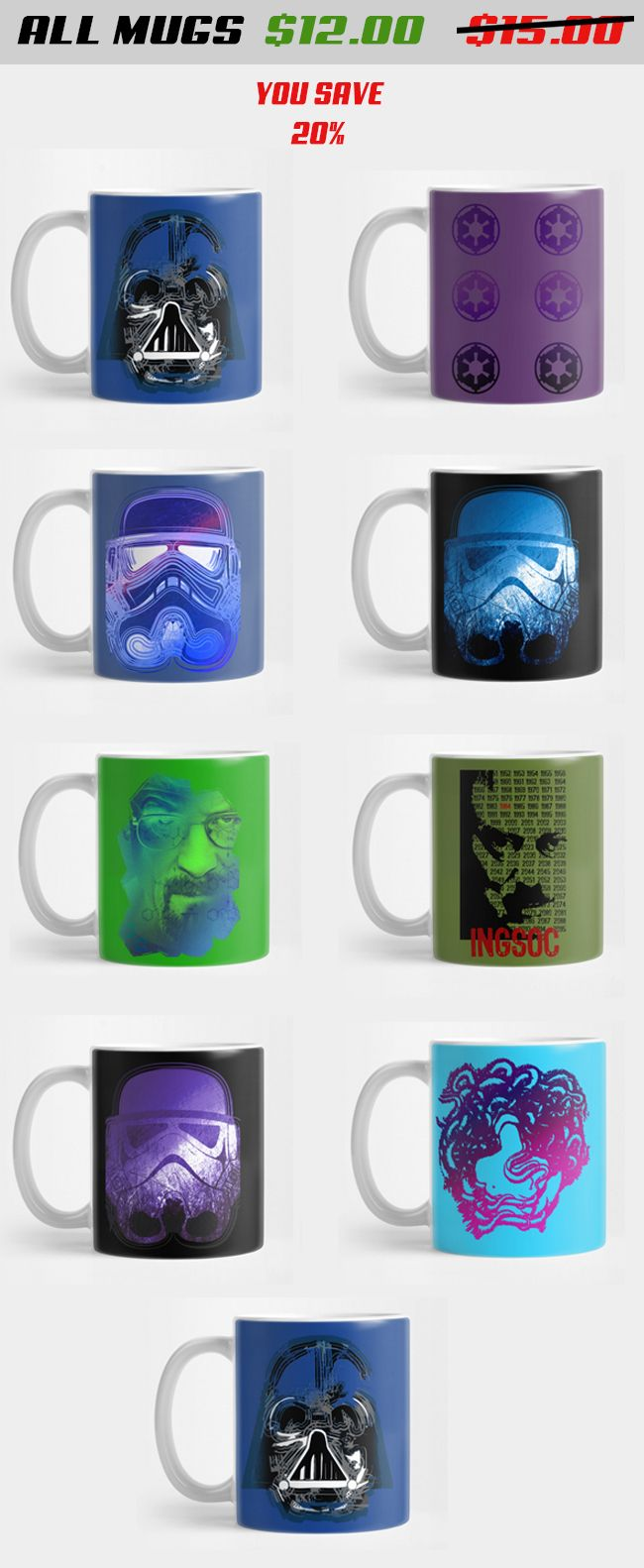 ALL MUG $12.00 !!!  #teepublic #fall2016  #mugs #coffeemugs #sales #discount #stormtroopermug #darthvadermug #moviegifts #cinemagifts #buymugs #coolmugs #geek #nerd #gifts  #starwarmug  #buycoolmug #octobersales #offer #giftsforhim #giftsforkids #starwargifts  #coffeemug #swag #style #mensgifts #badass #kidsmug #home #homegifts #kidsgifts #giftsforhim #giftsforher