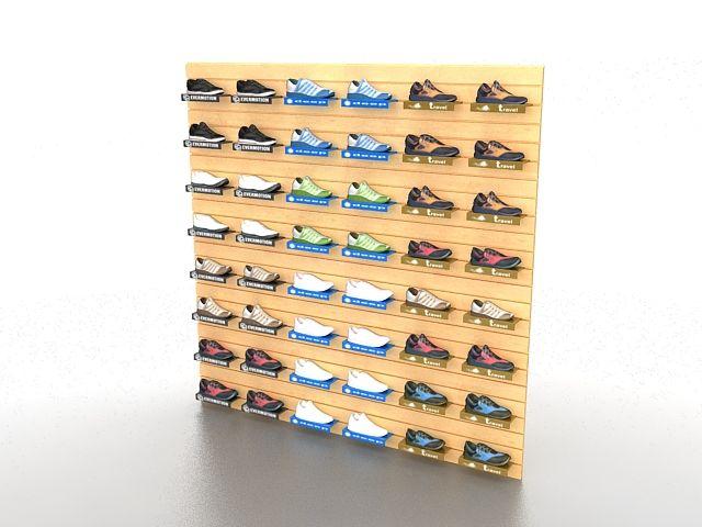 Магазин обуви стеллажи 3d модель