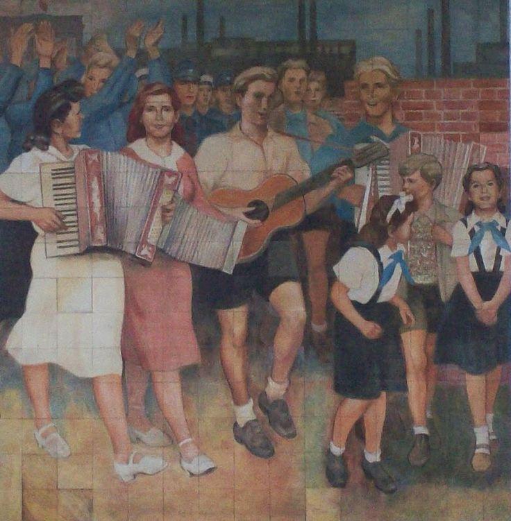 Oost Berlijn muur accordeon