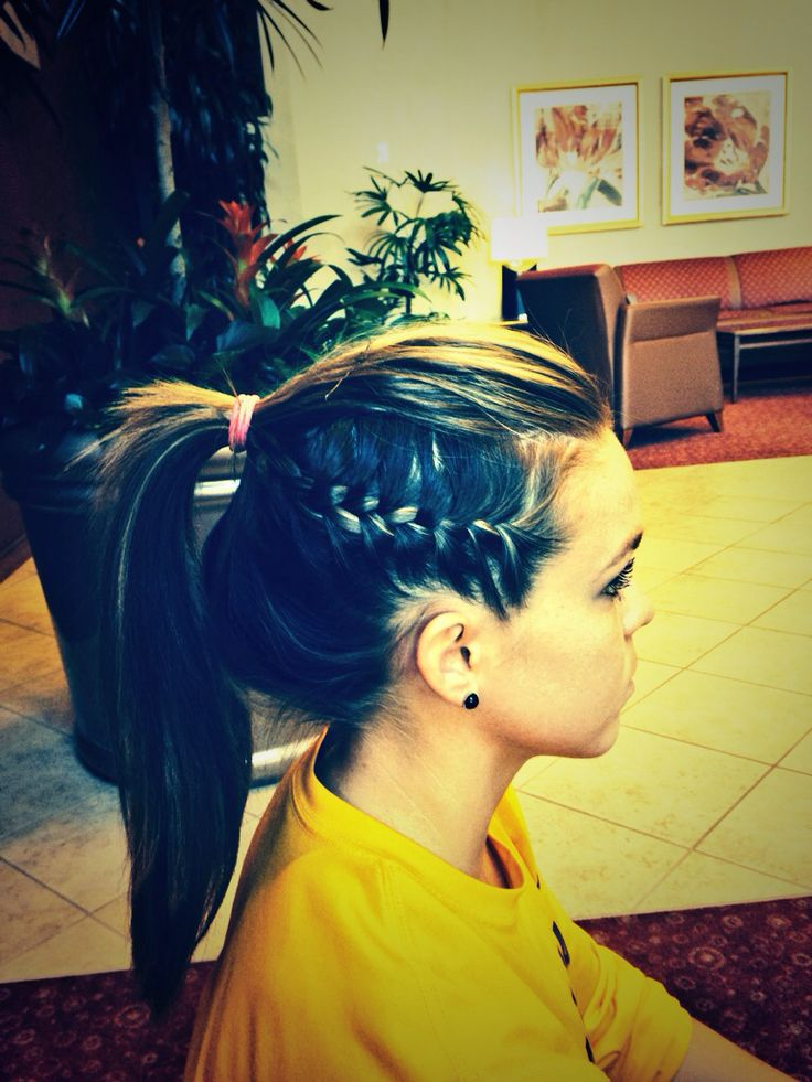 I've seen athletes do this cool #braid. It is simple, yet pulls hair back nice and tight.